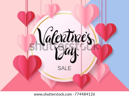 Happy Valentines Day Design Greeting Card Stock Vector 774484126 ...