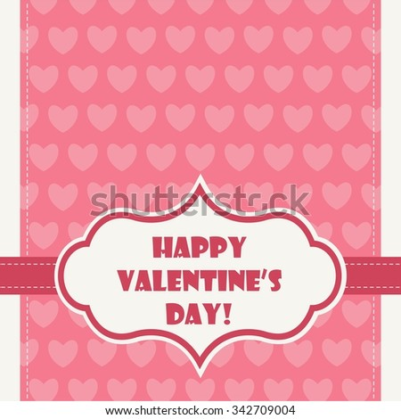 Happy Valentine's Day Greeting Card - stock vector
