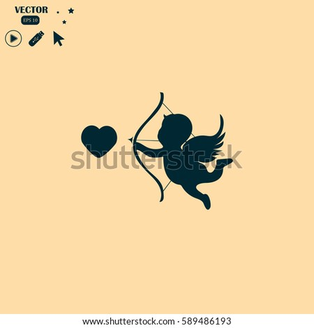 Happy Valentines Day Greeting Card Flying Stock Photo Photo Vector