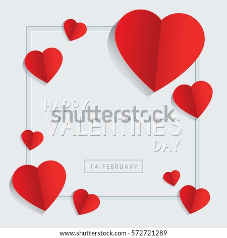 Happy Valentines Day Greeting Card Template Vector 572721289 – Valentines Day Card Designs