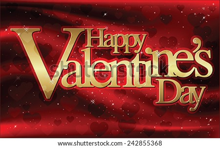 Happy Valentine's Day - greeting card, vector - stock vector