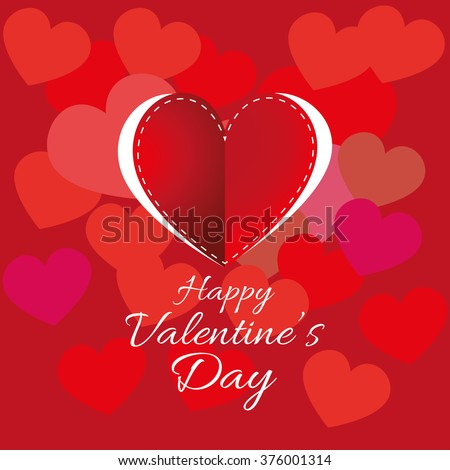 Valentines Day Cute Hearts Card Design Vector 558228211 – Digital Valentine Card