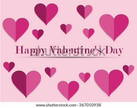 Happy Valentine's Day. Greeting card with hearts shadows. Love. The pattern for greeting cards and wrapping paper.
