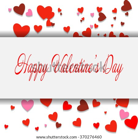 Happy Valentine's day lettering card. Eps10. Vector illustration - stock vector