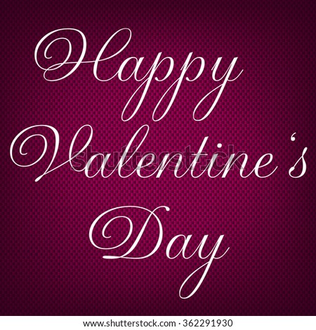 Happy Valentines Day Lettering Greeting Card Stock Vector 362291888