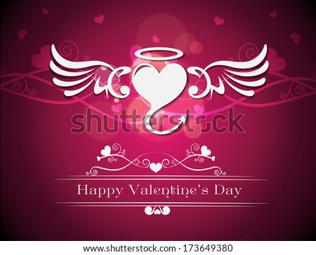 Happy Valentine's Day lettering Greeting Card,vector illustration. - stock vector