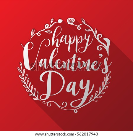 Happy valentines day lettering on red stock vector 562017943 happy valentines day lettering on red hearts background vector illustration for valentines card m4hsunfo
