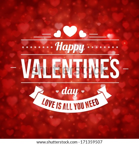 happy valentines day message vintage retro vector background - Happy Valentines Day Photos