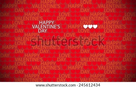 Happy Valentine's day seamless red background