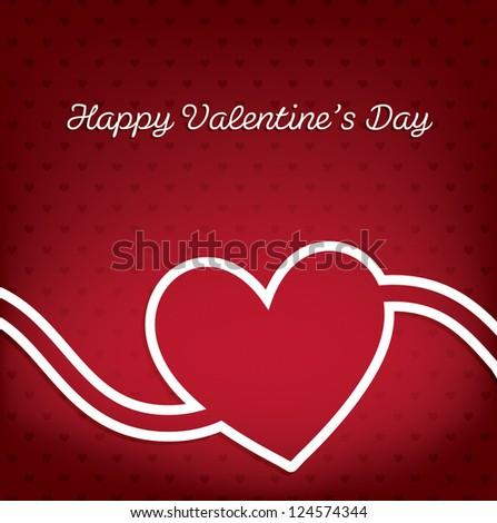 Happy Valentine's Day swirl card in vector format. - stock vector