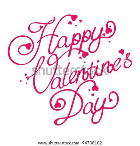 Happy Valentine's Day text - stock vector