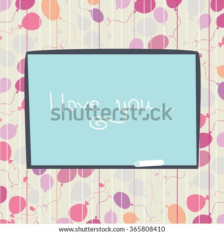 Happy Valentine's Day - Typographical Background with ornaments - stock vector