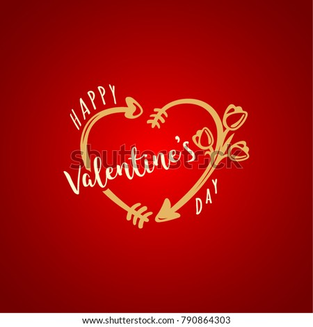 Happy Valentine s Day. Vector greeting card design.