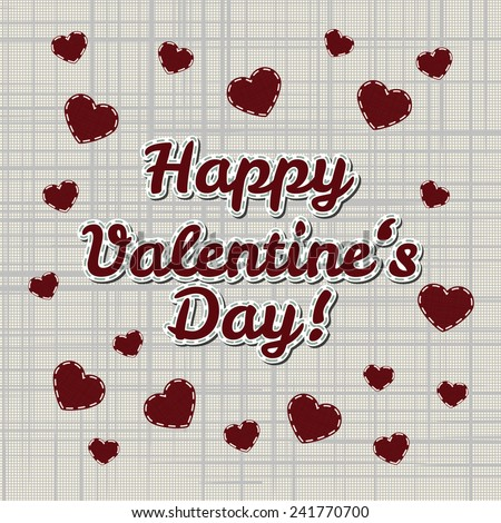 happy valentines day vector lettering greeting card with