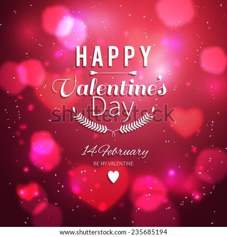 Happy Valentines Card - stock vector