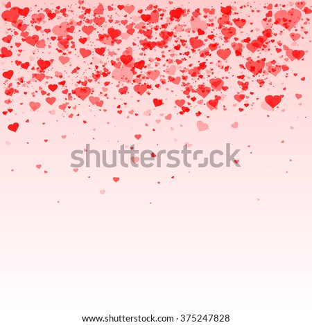 Happy Valentines day background with shining heart of particles. Vector illustration. - stock vector