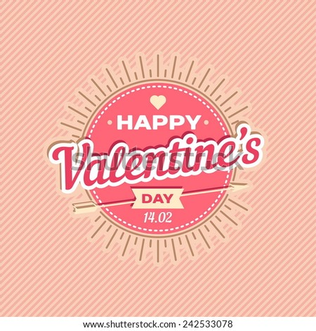 Happy Valentines day card design. 14 february. I love you. Vector background.