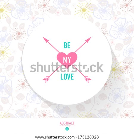 Happy Valentines day card, i love you, font type.Vector template - stock vector