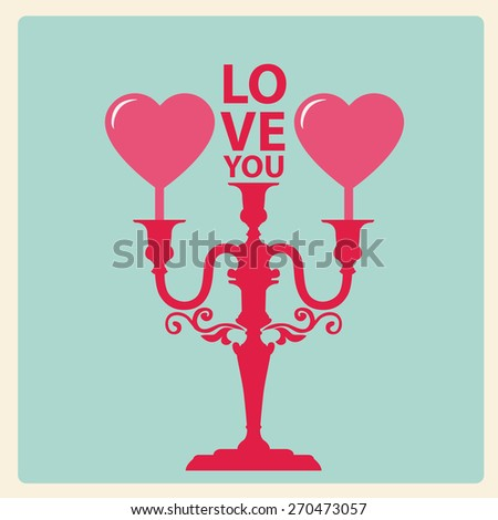 Happy valentines day card  Vector.