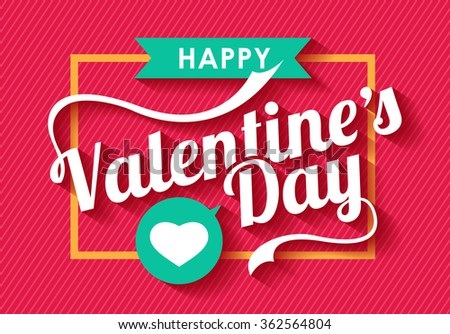 Happy Valentines day card ,vector background - stock vector
