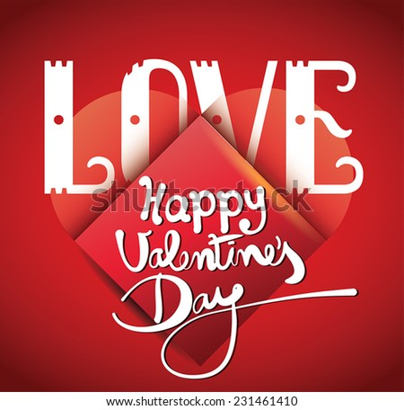 Happy Valentines day cards with  hearts and arrow. Love. - stock vector