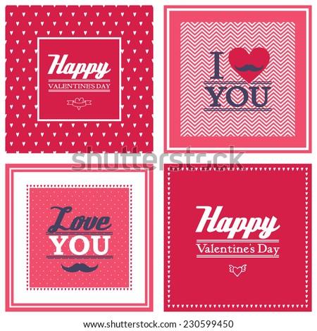 indiesmagiss holidays set on Shutterstock – Mustache Valentine Cards