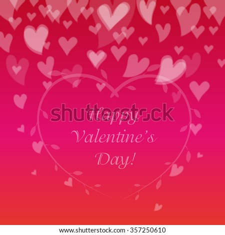 Happy Valentines Day. Greeting Card. Banner. Letter. Vector