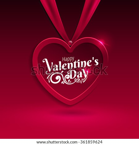 Happy Valentines day- lettering background, Typographical Background - stock vector