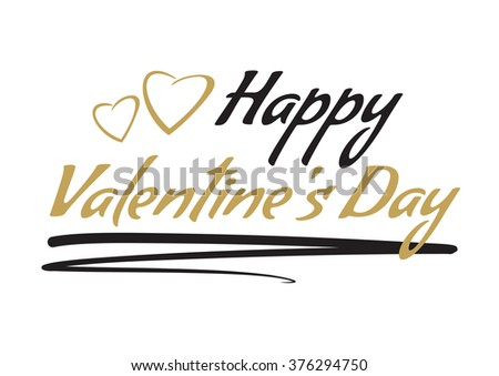 Happy Valentines day. Lettering. Happy Valentines Day drawing vector lettering design. - stock vector