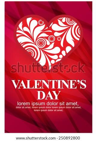Happy Valentines Day. vector - stock vector