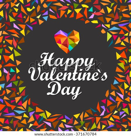 Happy Valentines Day. Vector greeting card - stock vector