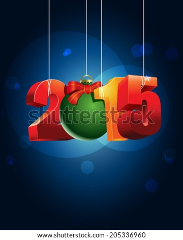 Happy 2015, vector illustrations - stock vector