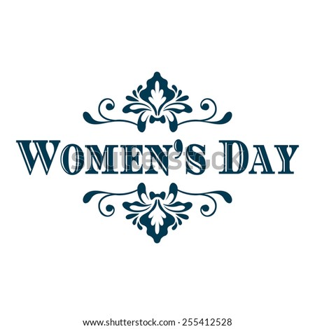 Happy Woman's Day lettering. Vector illustration - stock vector