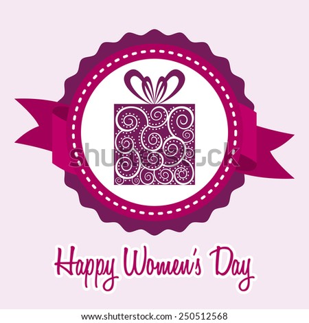 happy women day design, vector illustration eps10 graphic  - stock vector