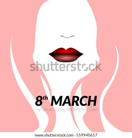 Happy women's day graphic design, Vector illustration