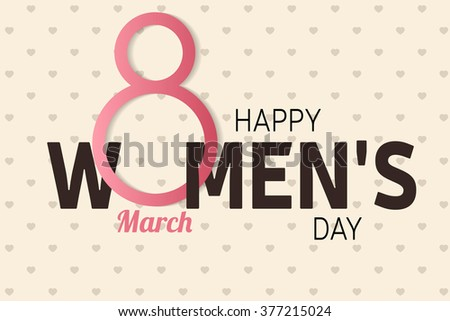 Happy Women's Day greeting card . Vector illustration. - stock vector