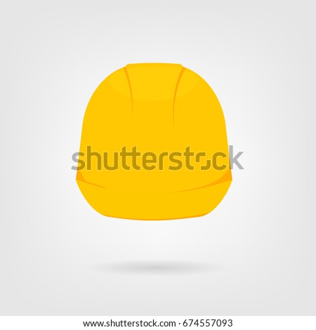 hard hat icon. Vector illustration isolated on white background