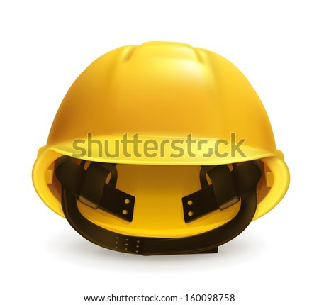 Hard hat vector icon - stock vector