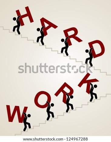 hard work - stock vector