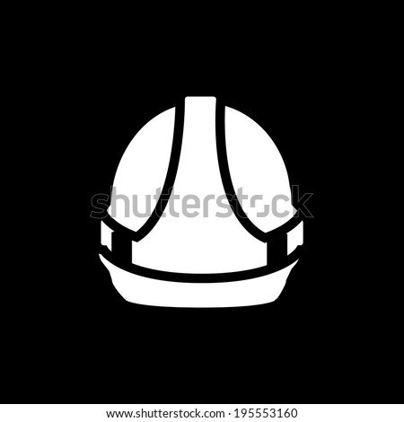 Hardhat Icon Isolated on Black Background - stock vector