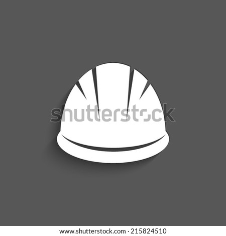 Hardhat Icon on a grey background - stock vector