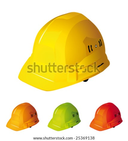 Hardhats vector collection - stock vector