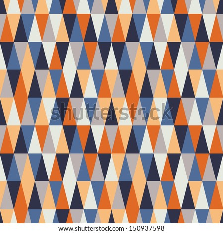 harlequin seamless triangle geometry - stock vector