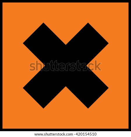 Harmful irritant sign - stock vector