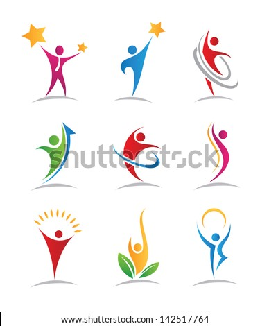 Harmony icons - stock vector