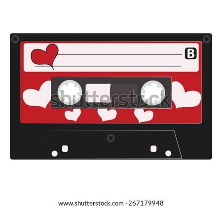 Hart cassette retro tape, side B - stock vector