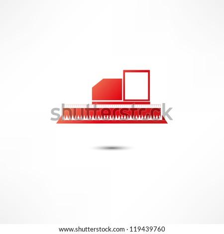 Harvester Icon - stock vector