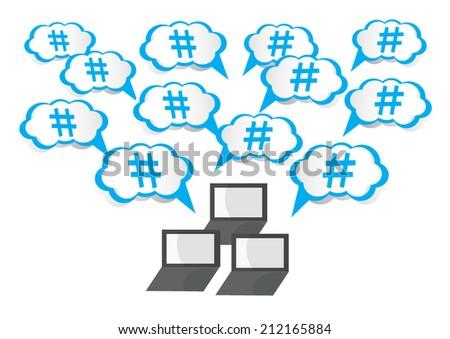 hashtag concept vector - stock vector