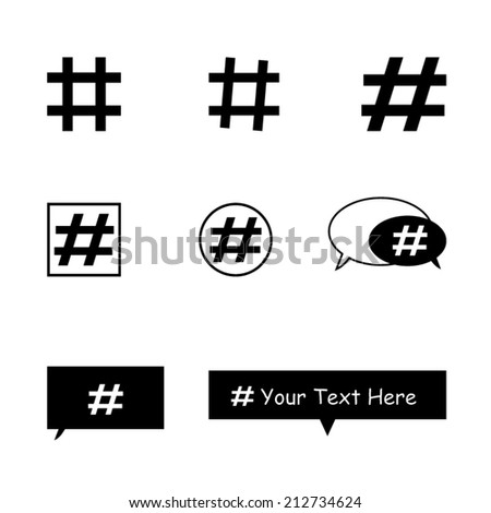 Hashtag_Social_Media_Icons - stock vector