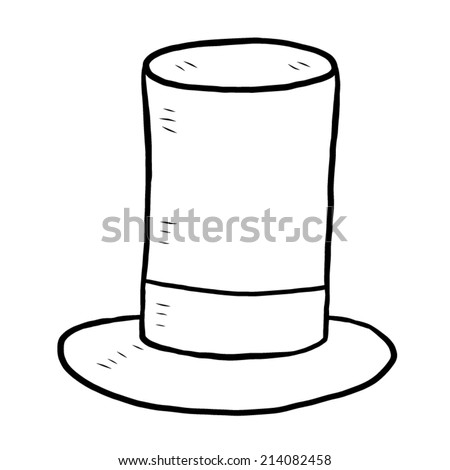 hat / cartoon vector and illustration, black and white, hand drawn, sketch style, isolated on white background.